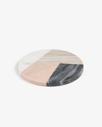 Bradney round trivet multicolor marble
