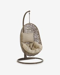 Florina brown hanging chair with base