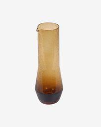 Hanie orange glass jug
