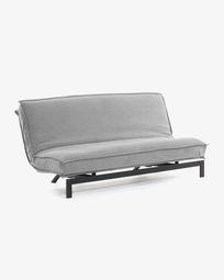 Καναπές-κρεβάτι Eveline 195 εκ, γκρι, μεταλλικός σκελετός