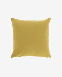 Mustard-yellow Nedra cushion cover 45 x 45 cm