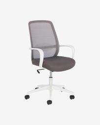 Melva office chair in grey