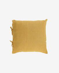 Κάλυμμα μαξιλαριού Tazu, 100% λινό, 45 x 45 εκ, μουσταρδί