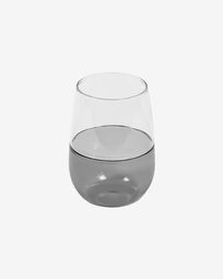 Large Inelia transparent and grey glass