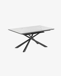 Ανοιγόμενο τραπέζι Theone 160 (210) x 90 εκ, πορσελάνη