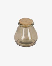 Μεγάλο γυάλινο δοχείο Rohan, 100% ανακυκλώμενο, καφέ