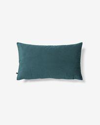 Lita cushion cover 30 x 50 cm turquoise velvet