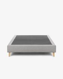 Bed base high Nikos 160 x 200 cm grey