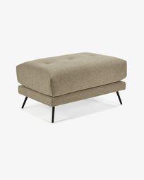 Brown Sahira footstool 80 x 60 cm