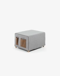 Kos light grey pouf bed cover