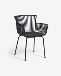 Surpika garden chair in black