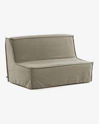 Lyanna sofa bed in beige 140 cm