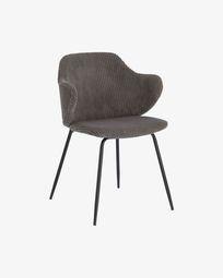 Καρέκλα Suanne, σκληρό γκρι κοτλέ