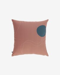 Κάλυμμα μαξιλαριού Abish, με γεωμετρικά σχέδια, καφέ 45 x 45 εκ