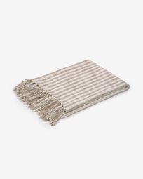 Ριχτάρι Carola, 100% βαμβακερό, 130 x 170 εκ, καφέ και άσπρες ρίγες