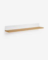 Abilen oak veneer and white lacquer shelves 80 x 9 cm FSC 100%