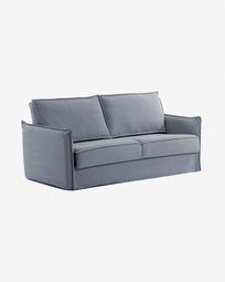 Καναπές-κρεβάτι Samsa, μπλε πολυουρεθάνη, 140 εκ