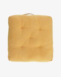 Μαξιλάρι δαπέδου Sarit 100% βαμβακερό 60 x 60 εκ, μουσταρδί-κίτρινο