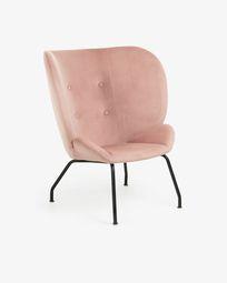 Πολυθρόνα Violet, ροζ βελούδο