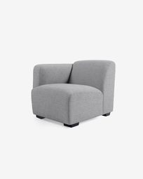 Legara grey seat with left-hand armrest 80 cm