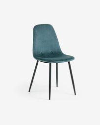 Καρέκλα Yaren, τυρκουάζ βελούδο