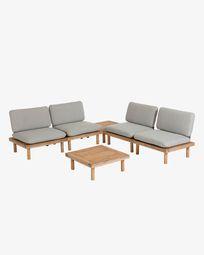 Viridis 4 armchairs and 2 tables set FSC 100%
