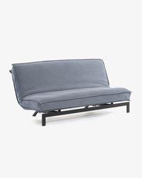 Καναπές-κρεβάτι Eveline 195 εκ, μπλε, μεταλλικός σκελετός