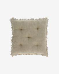 Brunela 100% cotton green chair cushion 45 x 45 cm