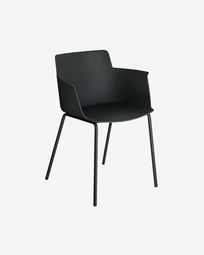 Hannia black chair with arms