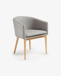 Καρέκλα Harlan, φυσικό και ανοιχτό γκρι