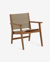 Hilda solid acacia outdoor armchair in green FSC 100%