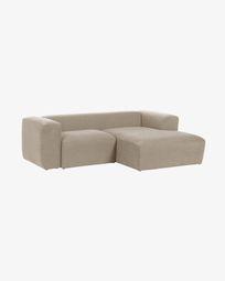 2θ καναπές με ανάκλινδρο δεξιά Blok 240 εκ, μπεζ