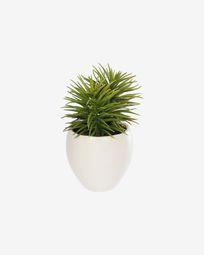 Τεχνητό φυτό Pino, λευκή κεραμική γλάστρα, 16 εκ