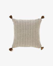 Sagira grey stripes cushion cover 45 x 45 cm