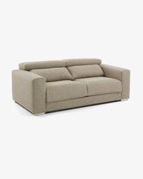 Atlanta 3-seater sofa in beige 210 cm