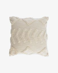 Xayoxhira beige cushion cover 45 x 45 cm