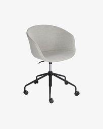 Καρέκλα γραφείου Yvette, ανοιχτό γκρι