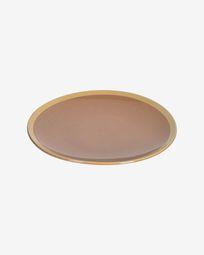Tilia ceramic dinner plate in light brown