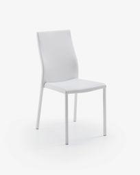 Καρέκλα Abelle, λευκό συνθετικό δέρμα