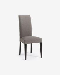 Καρέκλα Freda, γκρι και μαύρο