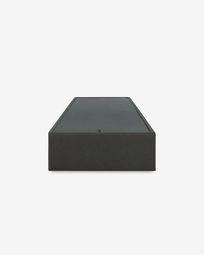Βάση κρεβατιού με αποθηκευτικό Matter 90 x 190 εκ, γραφίτης