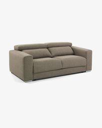 Atlanta 3-seater sofa in brown 210 cm
