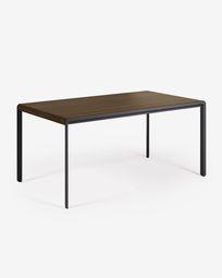 Τραπέζι Nadyria 160 (200) x 90 εκ, φινίρισμα καρυδιάς