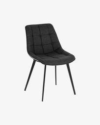 Καρέκλα Adam, σκούρο γκρι