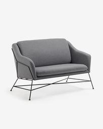 Brida 2-seater sofa in graphite 128 cm