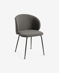 Καρέκλα Minna, σκούρο γκρι