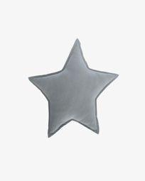 100%  βαμβακερό μαξιλάρι Noor 44 x 30 εκ, μπλε αστέρι