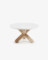 Τραπέζι σαλονιού Lotus Ø 65 εκ, λευκό