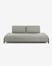 3θ πολυλειτουργικός καναπές Compo 232 εκ, μπεζ