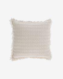 Κάλυμμα μαξιλαριού Shallowin, 100% βαμβακερό, 45 x 45 εκ, λευκό